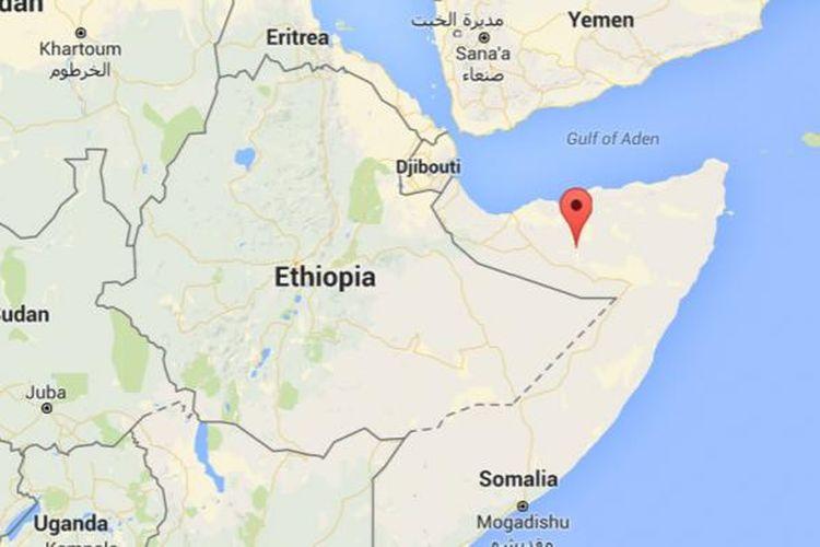 Wilayah Somaliland di utara Somalia.