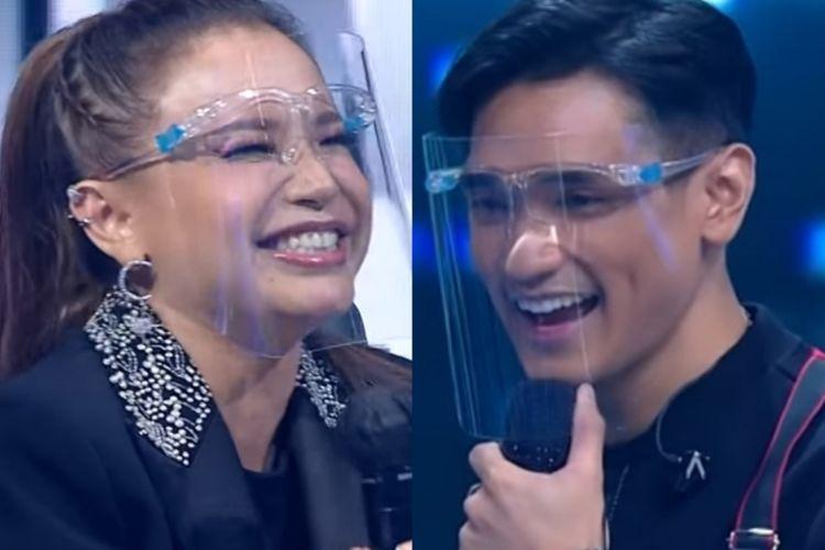 Afgan dan Rossa dalam Grand Final Indonesian Idol Special Season.