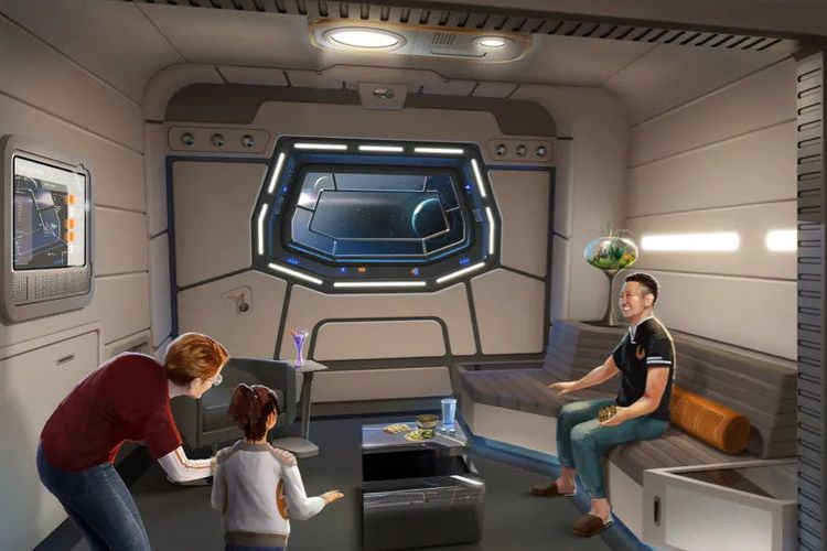 Salah satu bagian dari Galaxy Class Suite di hotel Star Wars: Galactic Starcruiser milik Disney.