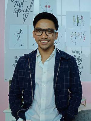 Make Up Artist ternama Bubah Alfian saat ditemui pada acara peluncuran koleksi kolaborasi lipstik ESQA x BCL di Jakarta, Rabu (25/4/2018).
