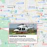 Helikopter Terguling di Bandara Budiarto Curug