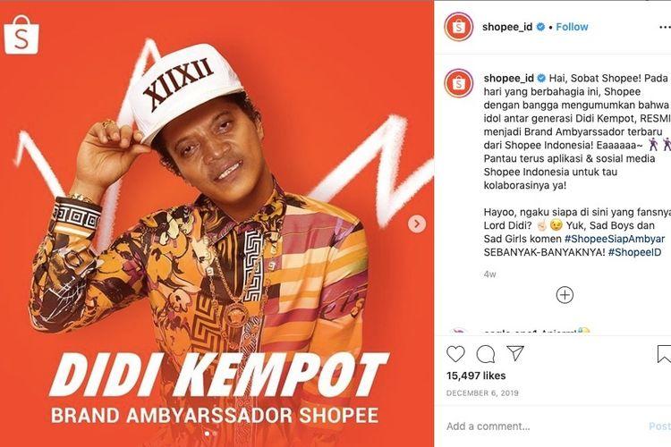 Didi Kempot saat jadi brand ambyarssador Shopee