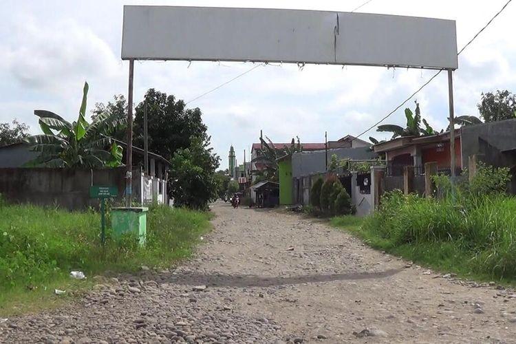 Suasana Perumahan Bajeng Permai Limbung, Kecamatan Bajeng, Kabupaten Gowa, Sulawesi Selatan yang isebut lokasi persembunyian Harun Masiku. Selasa, (21/1/2020)