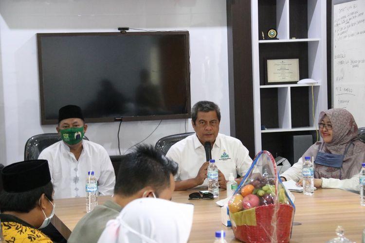 Rektor IAIN Jember saat penyampaikan proses peralihan IAIN Jember menjadi UIN KH Achmad Siddiq Jember