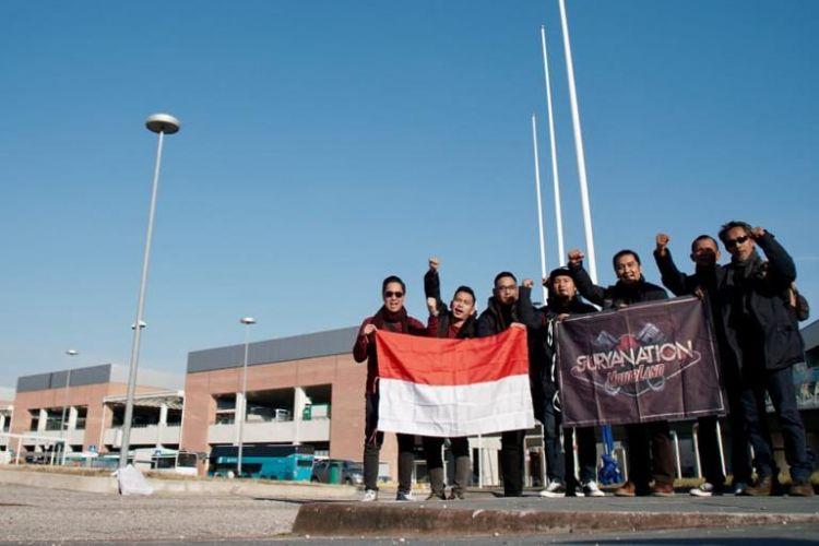 Tim Suryanation Motorland tiba di Italia, Rabu (16/1/2019).