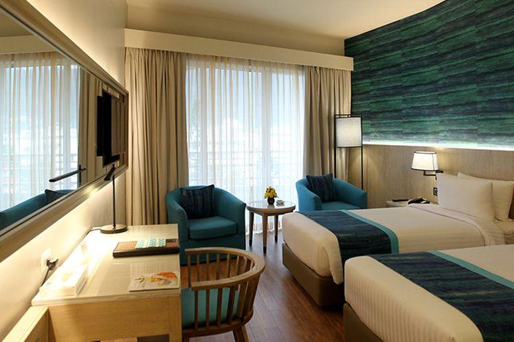 The Royal Paradise Hotel and Spa di kawasan Patong, Phuket, Thailand, Jumat (4/8/2017). Pemerintah Thailand tengah mengembangkan Phuket sebagai salah satu kawasan wisata ramah wisatawan muslim dengan mudah ditemuinya restoran dan hotel halal serta masjid. KOMPAS IMAGES/KRISTIANTO PURNOMO