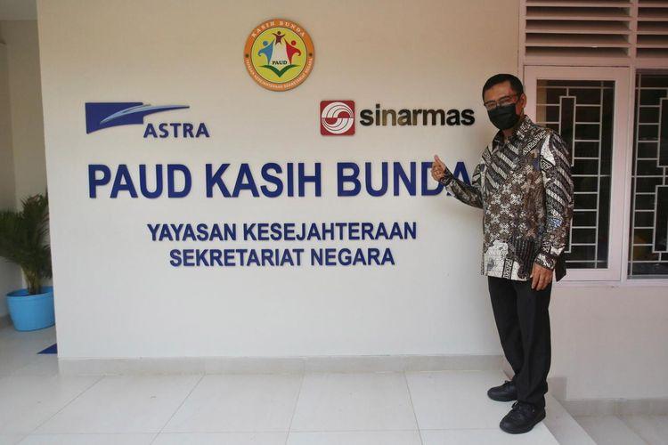 Managing Director Sinar Mas Selah Husin saat peresmian PAUD Kasih Bunda di Komplek Sekretariat Negara, Kota Tangerang, 10 Juni 2021.
