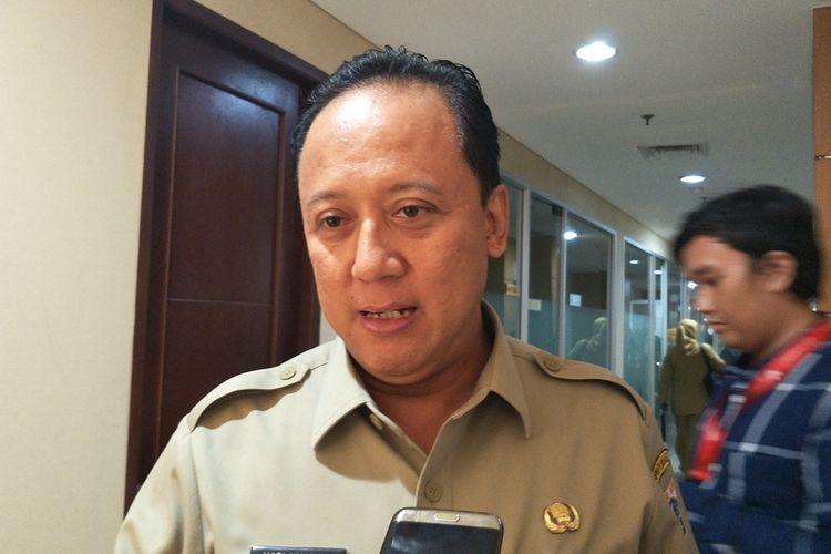Kepala Dinas Bina Marga DKI Jakarta Hari Nugroho di Gedung DPRD DKI Jakarta, Jalan Kebon Sirih, Jakarta Pusat, Senin (11/11/2019).