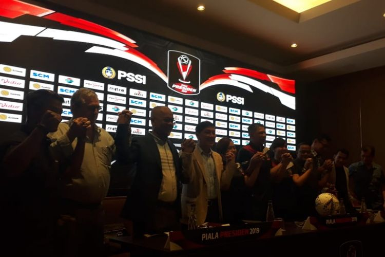 Konferensi pers Piala Presiden 2019