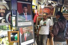 Foto Resmi Jokowi-Ma'ruf di Pasar Permai Jakut Masih Sepi Pembeli