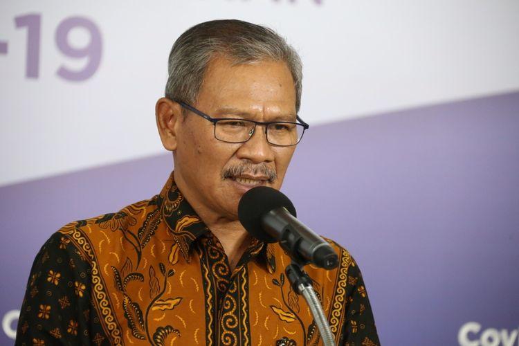 Juru Bicara Pemerintah untuk COVID-19 Achmad Yurianto saat memberikan keterangan di Graha BNPB Jakarta pada Jumat (8/5/2020).