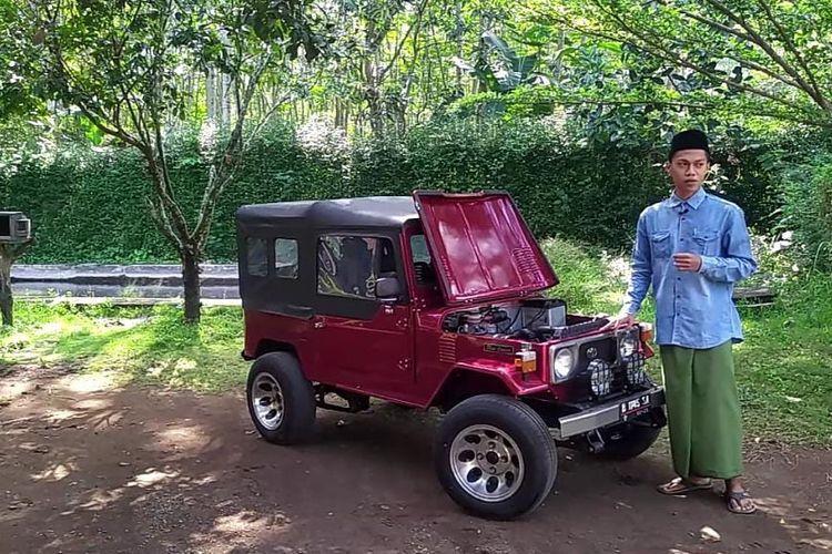 Mobil jeep mini karya santri Ponpes Raudlotul Ulum di Desa Sumberwringin Kecamatan Sukowono  Kabupaten Jember