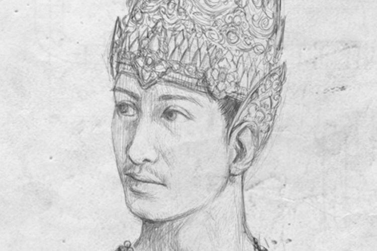 Ilustrasi Hayam Wuruk, raja keempat Majapahit yang mencapai puncak kejayaan