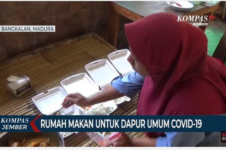 Seorang pengusaha kuliner di Kabupaten Bangkalan, Madura, menyulap rumah makannya menjadi dapur umum Covid-19. Ia adalah Abie Mulyar, yang dikenal sebagai pelaku usaha kuliner di Kabupaten Bangkalan Madura.