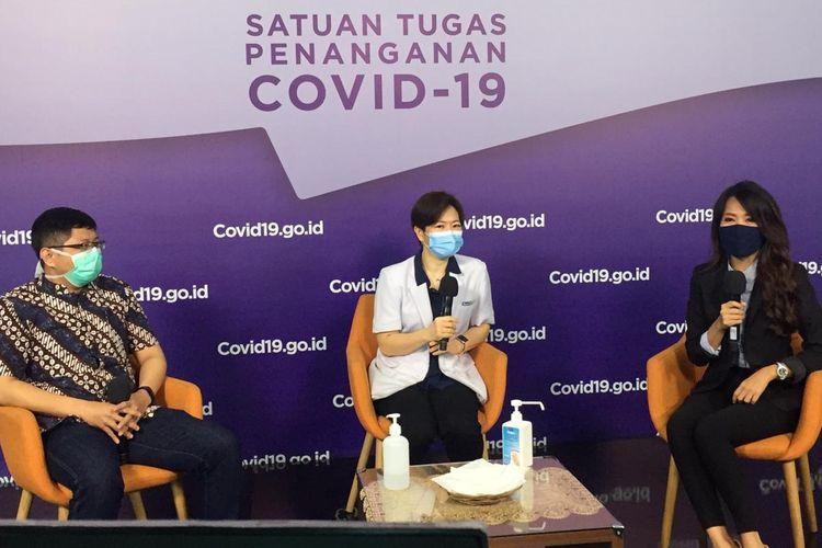 Talkshow Perlindungan Ibu, Anak, dan Balita dari Covid-19, di Media Center Satgas Covid-19 Graha BNPB Jakarta, Rabu (13/10/2020).