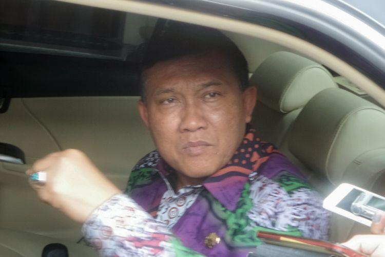 Direktur bidang Politik dan Pemerintahan Umum Kementerian Dalam Negeri Soedarmo saat ditemui usai rapat koordinasi khusus pembentukan Dewan Kerukunan Nasional di kantor Kemenko Polhukam, Jakarta Pusat, Jumat (5/5/2017).