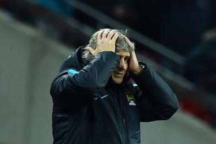 Manajer Manchester City, Manuel Pellegrini.