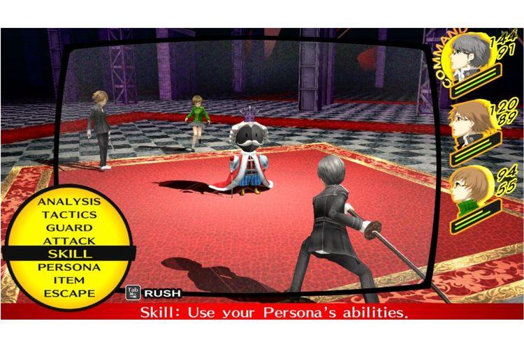 Gameplay Persona 4 Golden.