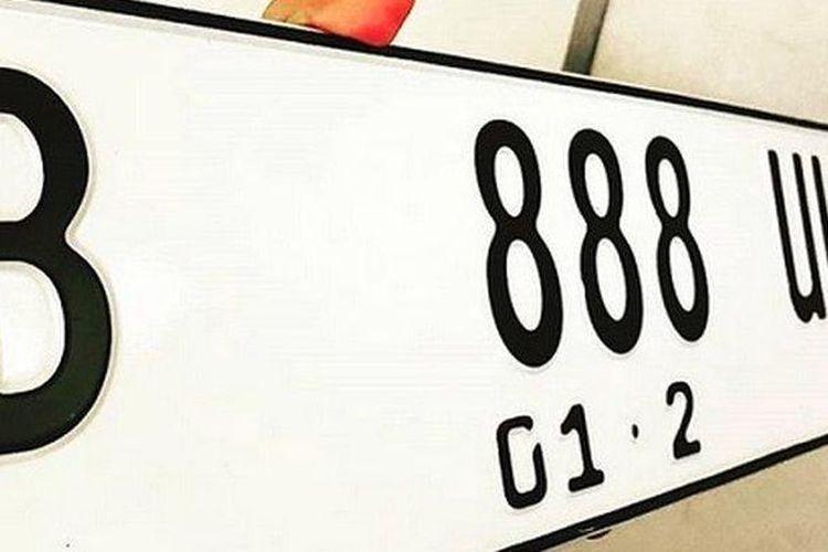 Ilustrasi pelat nomor jenis baru