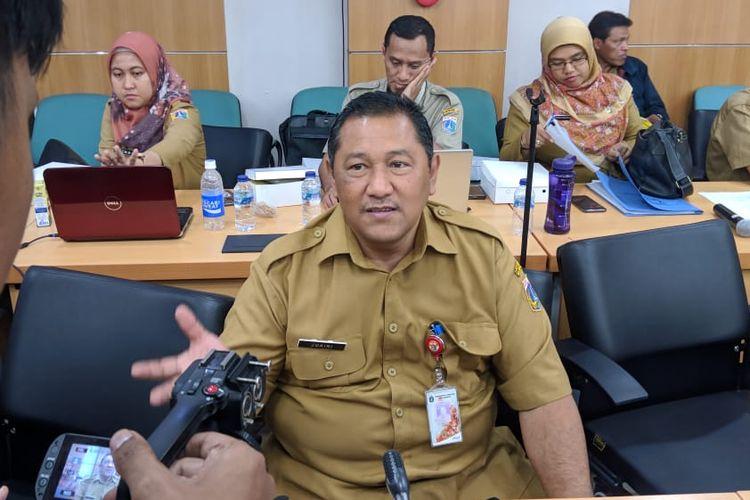 Kepala Dinas Sumber Daya Air (SDA) DKI Jakarta, Juaini saat ditemui di Ruang Rapat Komisi D DPRD DKI Jakarta, Selasa (5/11/2019).
