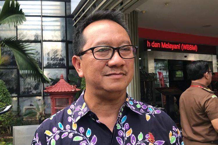 Kepala Pusat Penerangan Hukum Kejagung Hari Setiyono di Gedung Bundar, Kompleks Kejaksaan Agung, Jakarta Selatan, Jumat (17/1/2020).