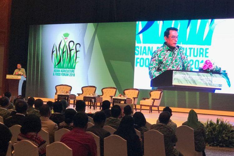 Ketua Umum HKTI Moeldoko saat  di JCC Senayan, Kamis (28/6/2018).