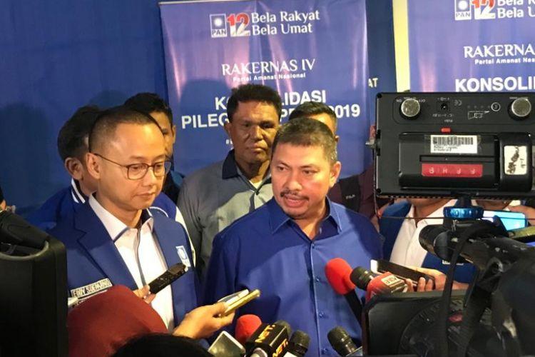 Wakil Ketua Umum PAN Mulfachri Harahap saat Rakernas PAN di Hotel Sultan, Jakarta, Kamis (9/8/2018).