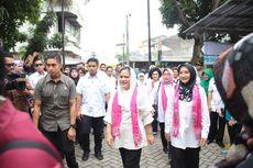Iriana Jokowi Serahkan 10 Truk Sembako untuk Korban Banjir Tangerang