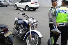 Kena Tilang di MH Thamrin, Pengendara Harley-Davidson Kabur