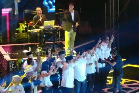 Di Konser Maher Zein, Prabowo Nyatakan Persaingan Boleh Keras asal Sehat
