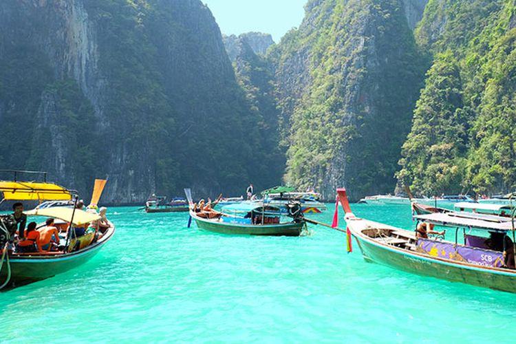 Phi Phi Lagoon di Krabi, Thailand.