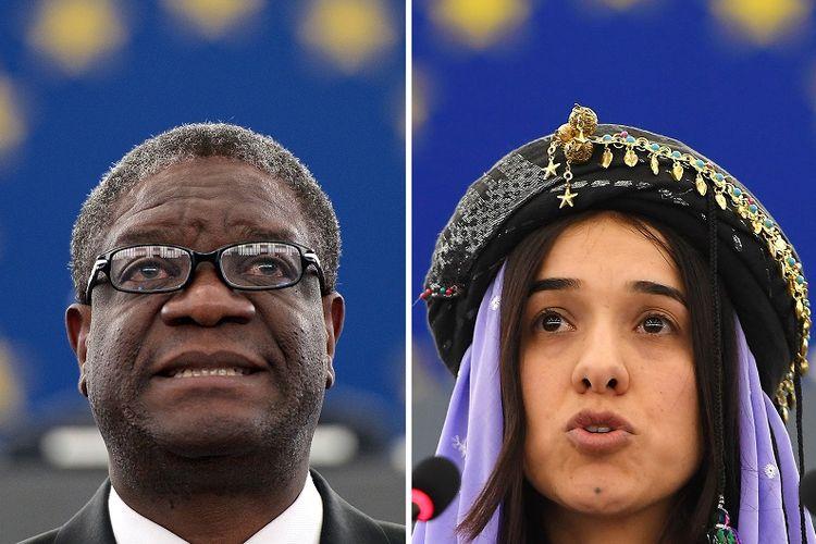 Peraih hadiah Nobel Perdamaian 2018 Dr Denis Mukwege (Kongo) dan Nadia Murad (Irak).