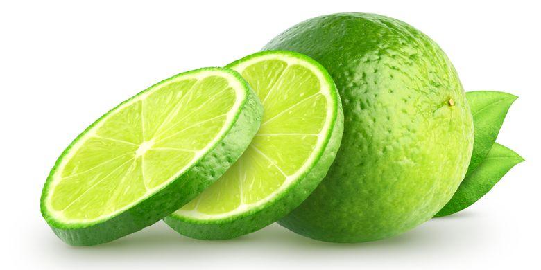 Ilustrasi potongan jeruk nipis