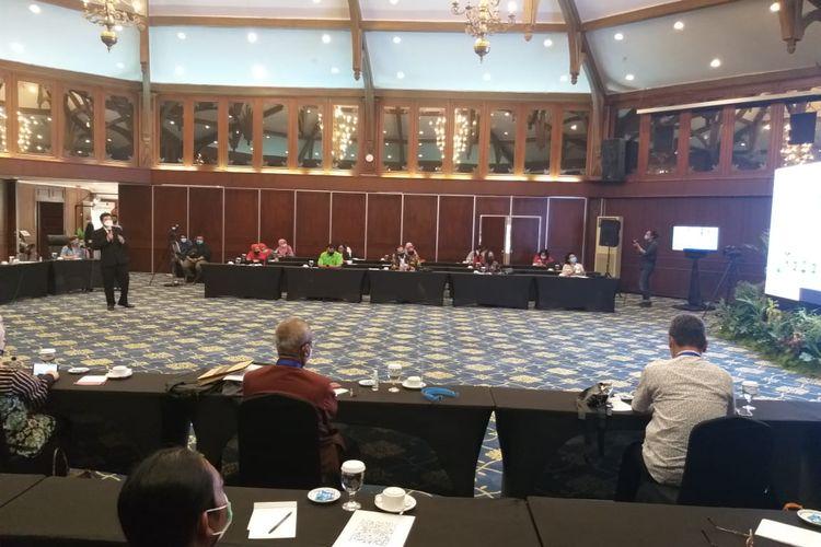 Sosialisasi kegiatan MICE di Poncowati Patra Convention Hotel Semarang, Kamis (8/10/2020).