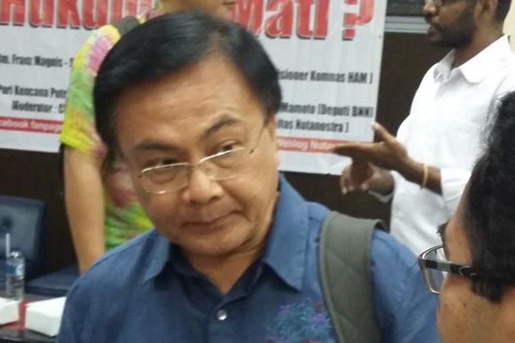 Mantan Deputi Bidang Pemberantasan Narkoba Badan Narkotika Nasional (BNN) Benny Mamoto, saat ditemui di Jakarta, Kamis (12/3/2015).