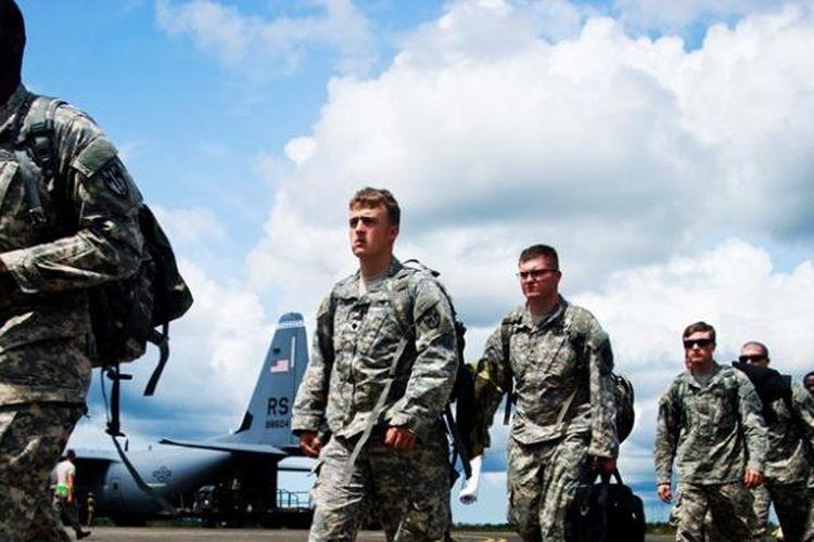 Personel militer AS dari Pasukan Divisi Lintas Udara 101.
