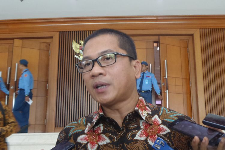 Ketua DPP PAN Yandri Susanto di Kompleks Parlemen, Senayan, Jakarta, Rabu (25/10/2017).