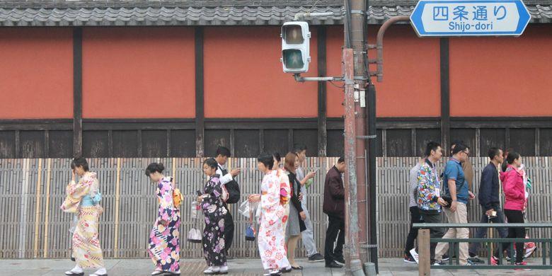 Suasana Kota Kyoto, Jepang, Jumat (13/10/2017).
