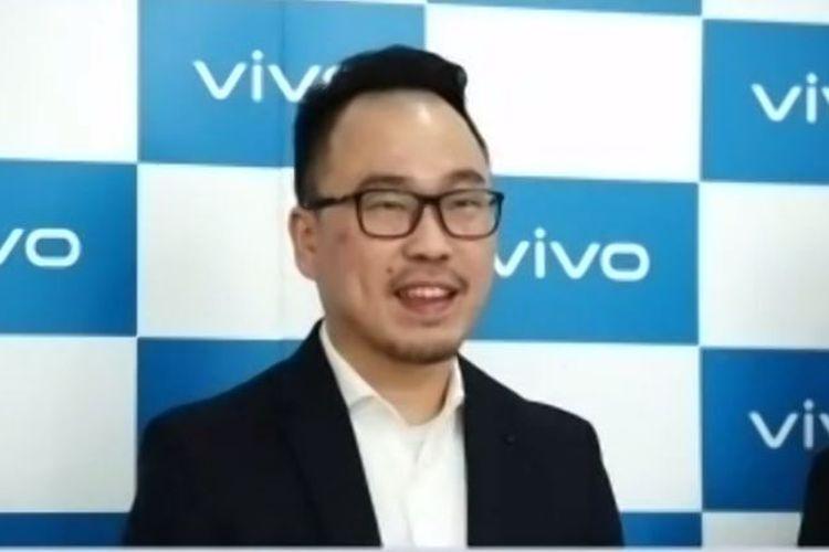 Senior Brand Director Vivo Indonesia, Edy Kusuma, di konferensi pers online yang digelar Vivo, Kamis (16/7/2020).