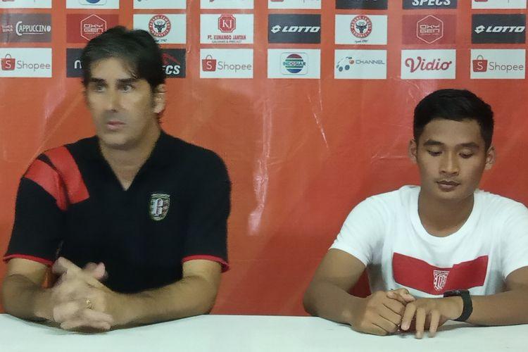 Teco dan Kadek jumpa pers usai pertandingan Semen Padang lawan Bali United
