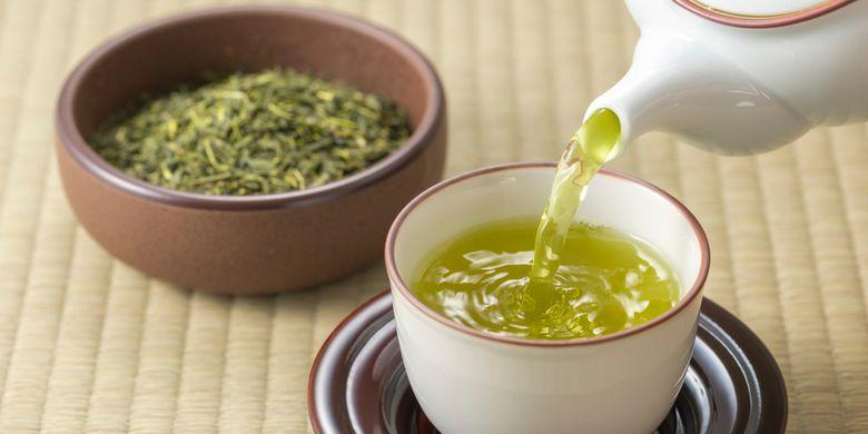 ilustrasi teh hijau, manfaat teh hijau bagi kesehatan