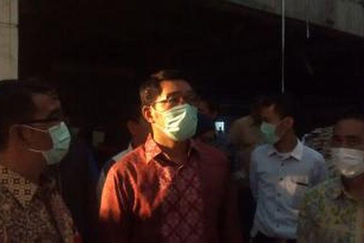 Wali Kota Bandung, Ridwan Kamil, blusukan ke Pasar Kosambi, Jalan Ahmad Yani, Kota Bandung, Kamis (14/8/2014).