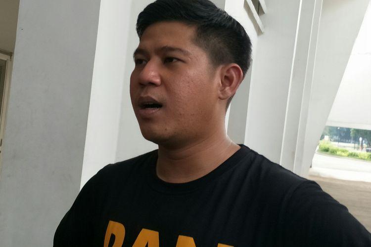Nino RAN saat diwawancarai di Stadion Madya, GBK, Senayan, Jakarta, Rabu (18/12/2019)