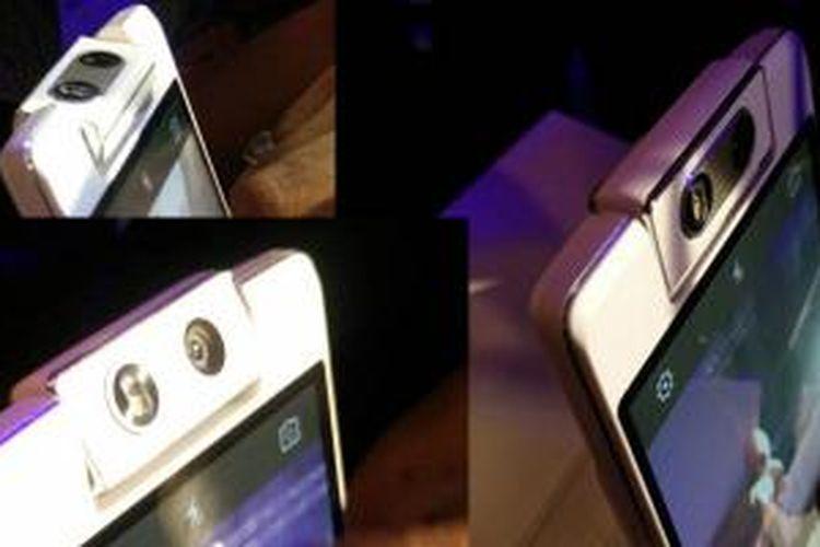 Kamera Oppo N3 yang bisa berputar secara otomatis.