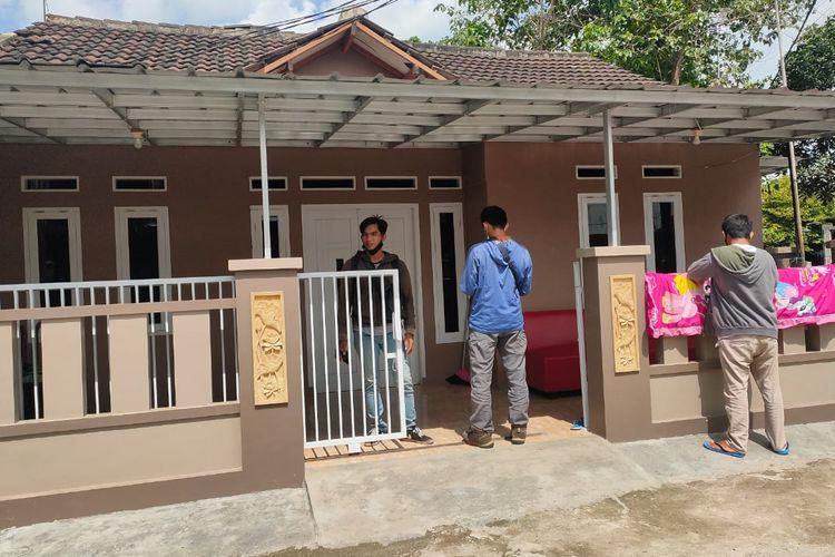 Rumah Arneta Fauzia, salah satu korban jatuhnya pesawat Sriwijaya Air