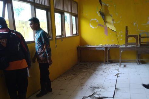 Tembok Retak-retak akibat Pergerakan Tanah, 2 Ruang SD di Banjarnegara Dikosongkan
