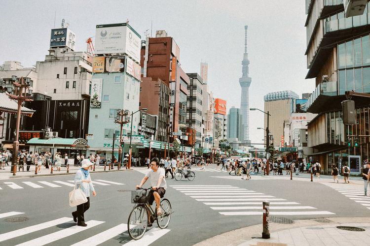 Suasana di Tokyo, Jepang.