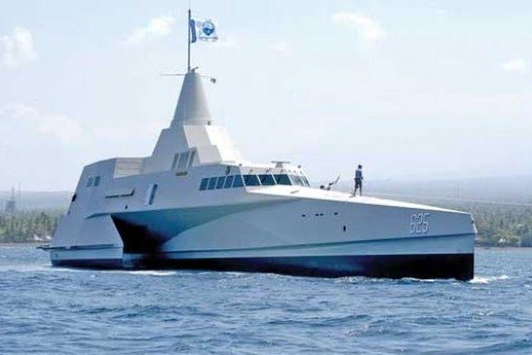 KRI Klewang. Kapal cepat rudal dengan disain super canggih.