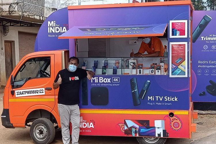 Mobil van Mi Store on Wheels Xiaomi India