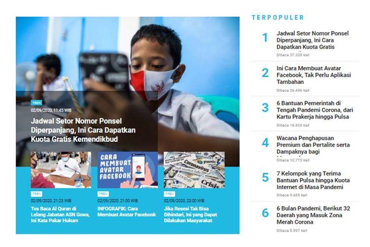 Populer Tren: cara mendapatkan bantuan kuota gratis dari Kemendikbud | Cara membaut avatar di Facebook.